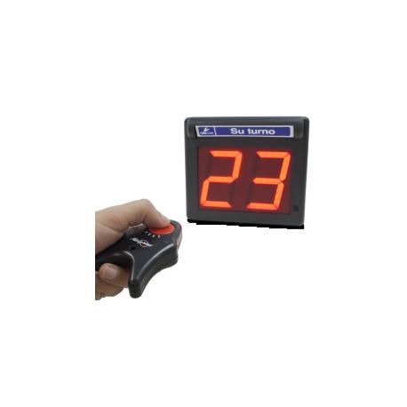 Panneau d'affichage à numéro pour salle d'attente