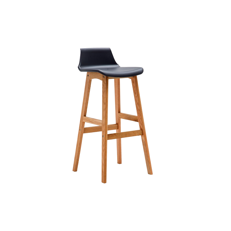 Tabouret de bar en bois moderne assise siege noir ou blanc for Siege de bar design