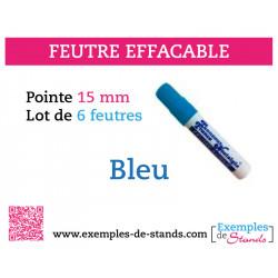 6 feutres craies couleurs bleu mine 15mm