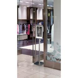 Porte document aluminium sur long pieds avec ou sans distributeur
