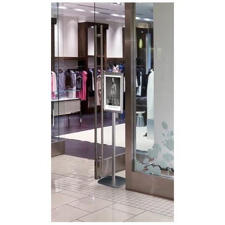 Porte affiche A3 - A4 en aluminium sur long pieds avec ou sans distributeur
