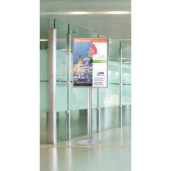 Porte affiche pour affiche format B1 50x70cm sur pied