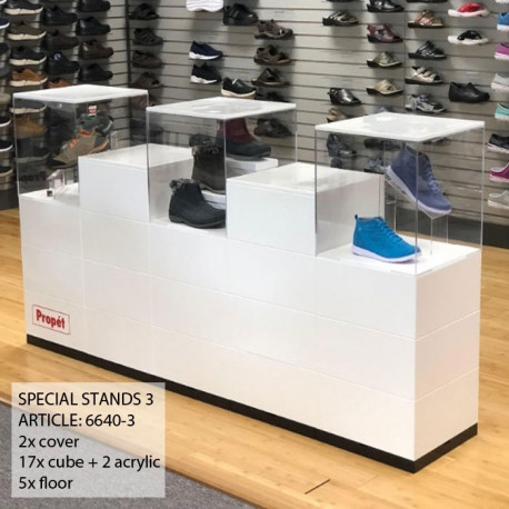 mobilier pour présenter des chaussures ou autres