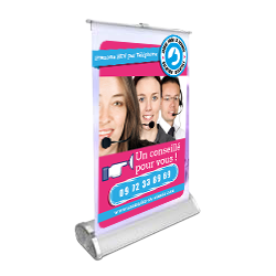 impression mini roll up A3 pas cher en ligne