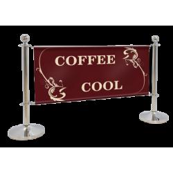 Visuel imprimé sur bache pour barrière de café et terrasse