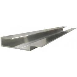 Profilé de bord pour fixation de panneaux Dibond 3mm