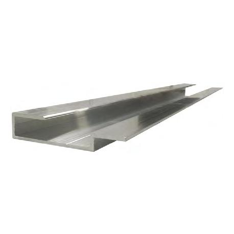 Dimension du profilé de début ou fin d'habillage aluminium pour encadrement de panneaux composite type Dibond