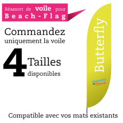 Voile de remplacement pour beach flag BUTTERFLY