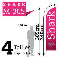 Beach Flag SHARK M305