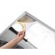 Cadre alu avec impression format 70x145cm