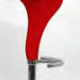 Tabouret de bar haut rouge et design - SWAN