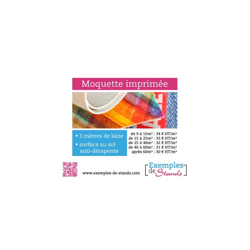 Moquette pour stand foire expo imprim e avec personnalisation for Moquette de stand