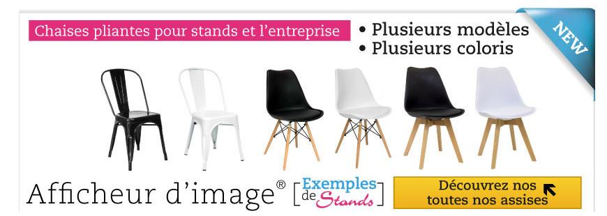 Sièges et chaises pour stand et l'entreprise
