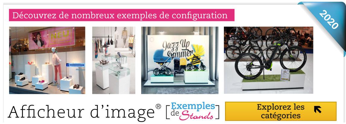 Merchandising par la présentation de vos produits, mobilier mobulable pour commenrces et stands